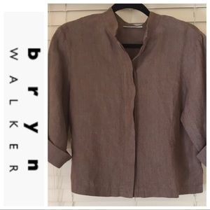 BRYN WALKER 100% LINEN LAGENLOOK BUTTON JACKET